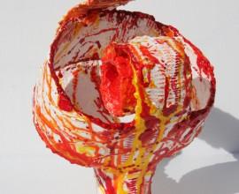 roll  .  acryl / gemengde techniek met kunsthars    22 / 26 cm